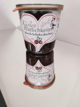 Kirsch-Schoko-Kuchen im Glas